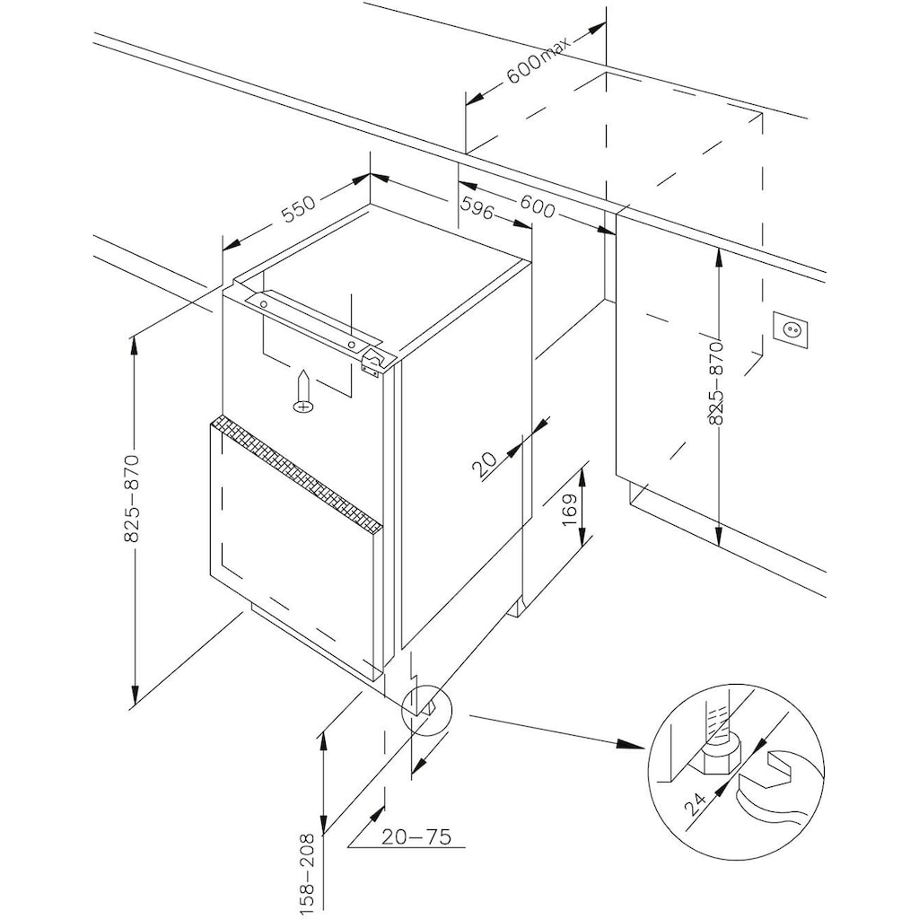 Amica Einbaukühlschrank »UVKSS 351 900«