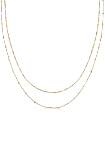 Elli Ketten-Set »Halskette Basic 2er Set Kugelkette Figarokette, 0112181619«, (Set, 2... kaufen