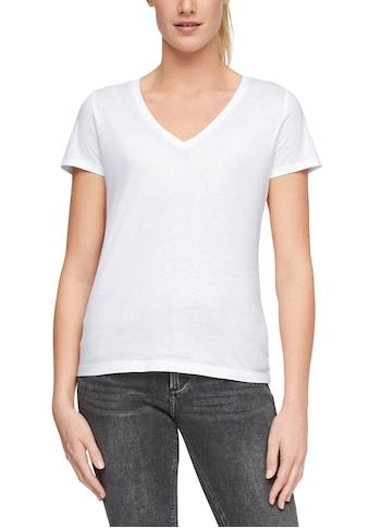 Q/S designed by T-Shirt, mit trendy V-Ausschnitt kaufen