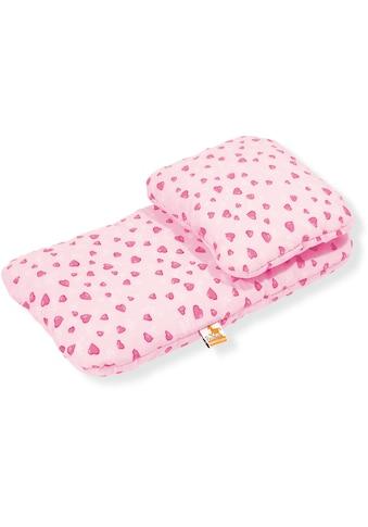 """Pinolino® Puppen Bettwäsche """"Herzchen, rosa"""", (Set, 2 - tlg.) kaufen"""