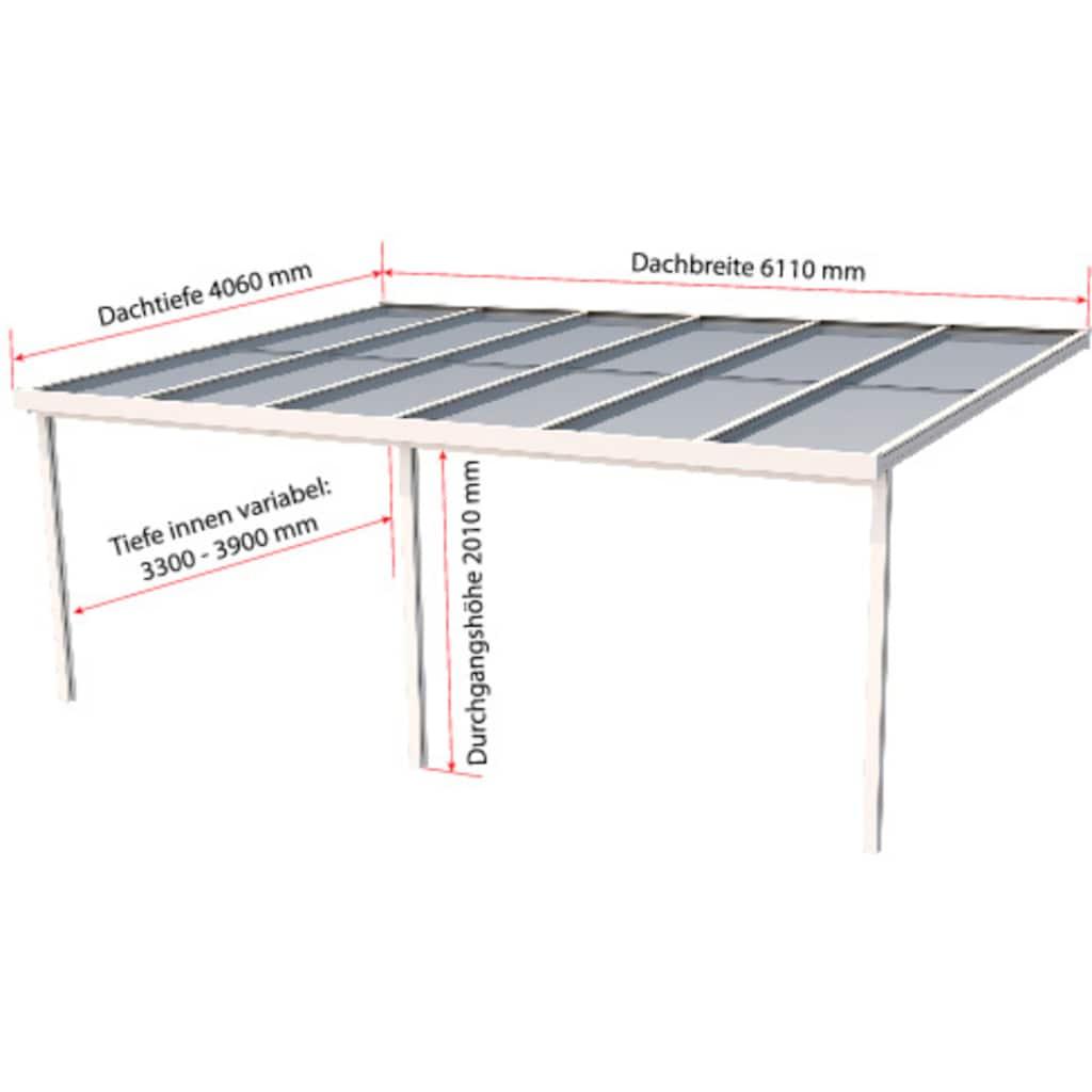 GUTTA Terrassendach »Premium«, BxT: 611x406 cm, Dach Polycarbonat klar