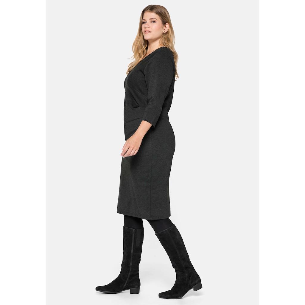 Sheego Jerseykleid, mit seitlichen Falten