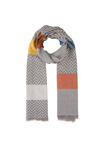 Codello Jacquard - Schal im Mustermix aus Viskose kaufen