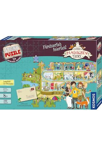 Kosmos Puzzle »Story Puzzle: Die Schule der magischen Tiere, Fürchterlich Feierlich«, mit Leuchteffekt; Made in Germany kaufen