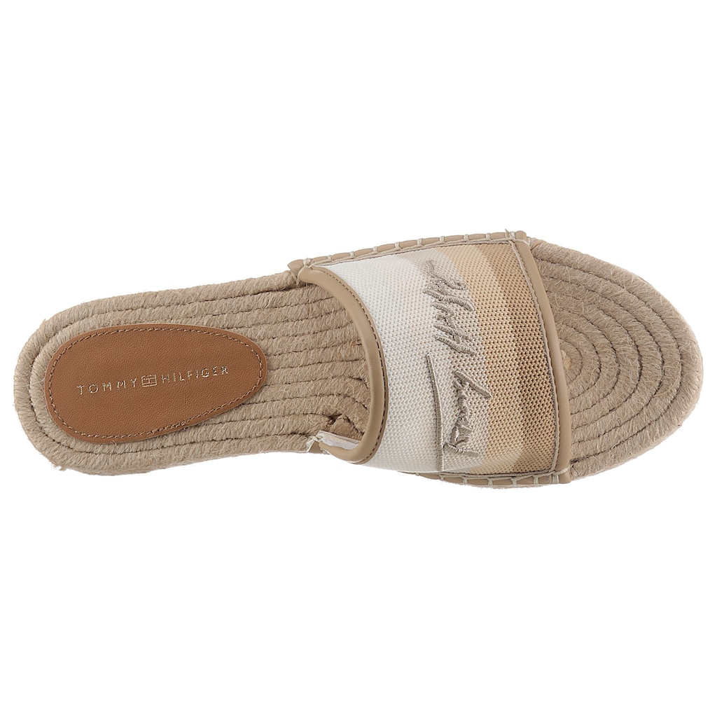 Tommy Hilfiger Pantolette »TOMMY GRADIENT MULE ESPADRILLE«, mit gestreifter Bandage