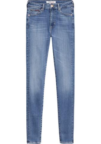 Tommy Jeans Skinny-fit-Jeans »SYLVIA HR SUPER SKNY KDBST«, mit Fadeout-Effekten und Tommy Jeans Logo-Flag & Badge kaufen