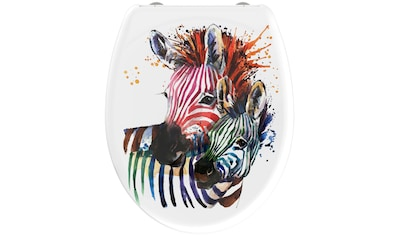 welltime WC-Sitz »Zebra«, hochwertiger abnehmbarer Premium-Toilettendeckel mit... kaufen