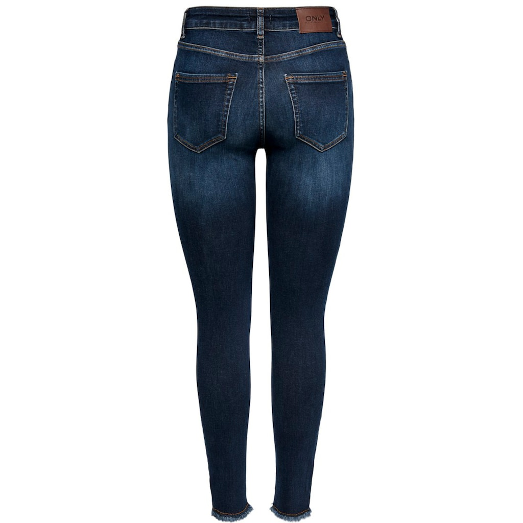 Only Skinny-fit-Jeans »ONLBLUSH LIFE«, mit ausgefranstem Saum