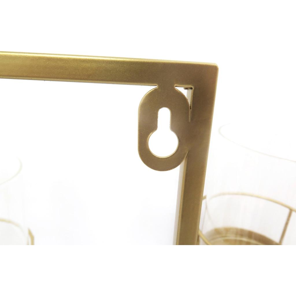 Leonique Wanddekoobjekt »Luciana«, Wandkerzenhalter, Wanddeko, aus Metall, mit 5 Teelichthaltern