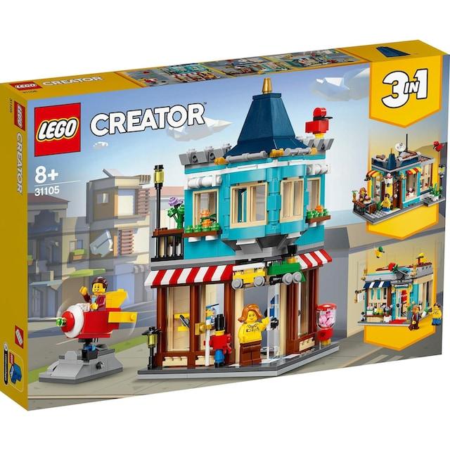 """LEGO® Konstruktionsspielsteine """"Spielzeugladen im Stadthaus (31105), LEGO® Creator"""", Kunststoff, (554-tlg.)"""
