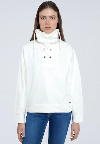 Pepe Jeans Sweater »BAHIRA«, mit großem Kragen zum Binden kaufen