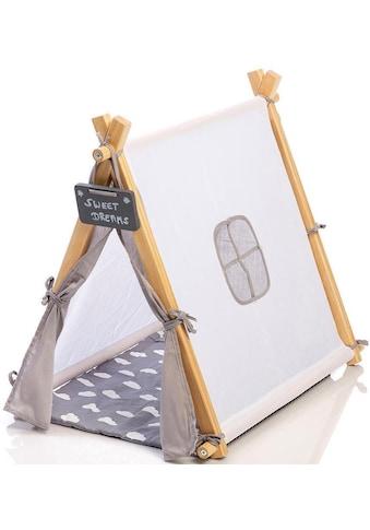 "MUSTERKIND® Puppen Zelt ""Tipi Barlia, natur/weiß/grau"" kaufen"