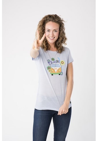 SUPER.NATURAL T-Shirt »W PRINTED TEE«, toller Merino-Materialmix kaufen
