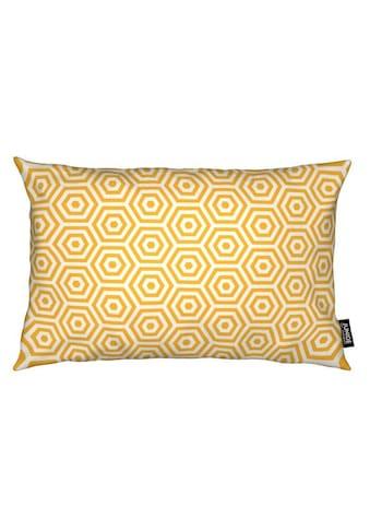 Juniqe Dekokissen »Yellow Beehive«, Weiches, allergikerfreundliches Material kaufen
