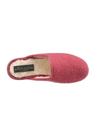 Pantoffel mit rutschhemmender Gummi - Laufsohle kaufen
