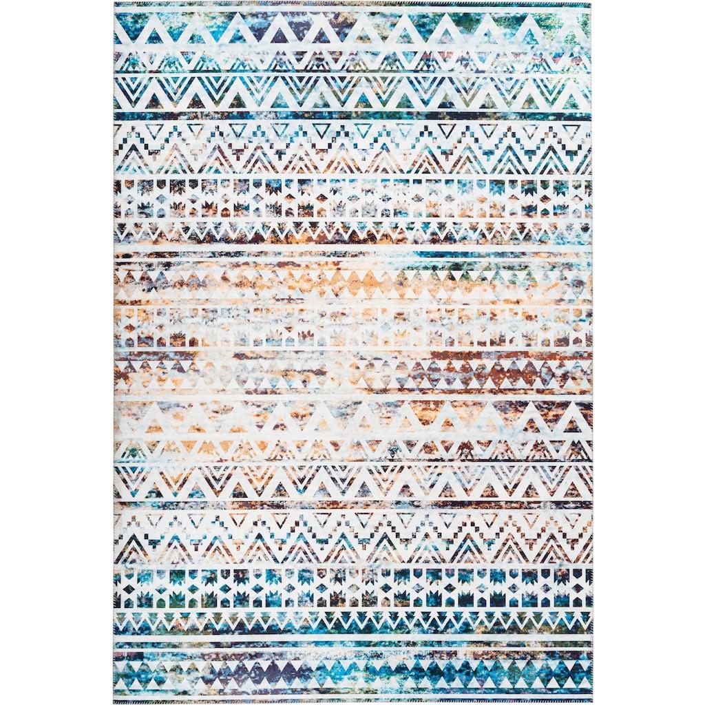 andas Teppich »Jonte«, rechteckig, 6 mm Höhe, Vintage Design, Wohnzimmer