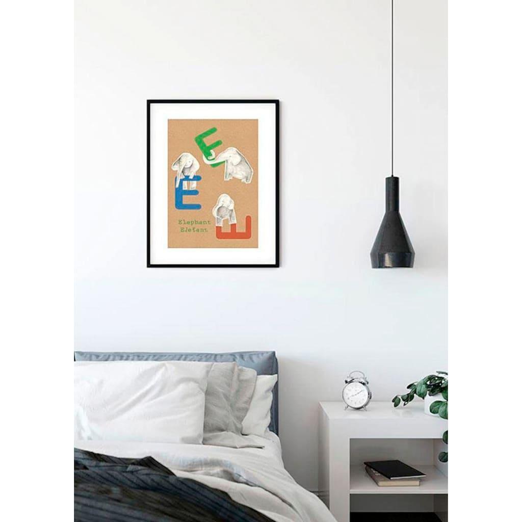 Komar Poster »ABC Animal E«, Buchstaben, Höhe: 50cm