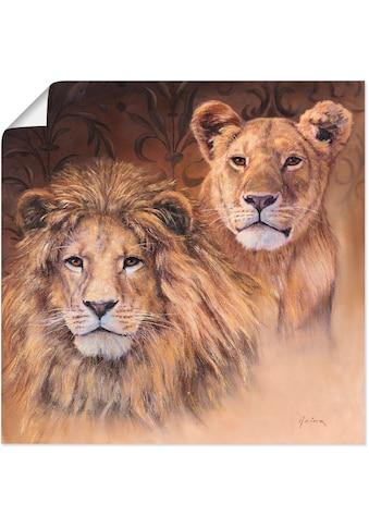 Artland Wandbild »Löwen«, Wildtiere, (1 St.), in vielen Größen & Produktarten -... kaufen