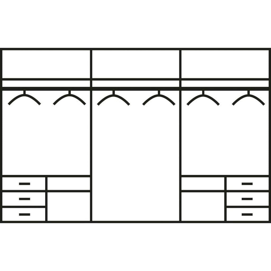 Fresh To Go Schwebetürenschrank »Level«, mit Glastüren und Synchronöffnung