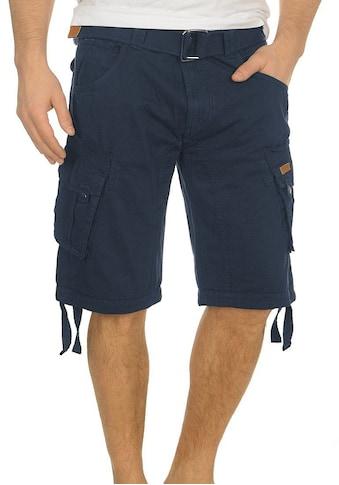 Indicode Cargoshorts »Hampton«, (mit abnehmbarem Gürtel), kurze Hose mit Gürtel kaufen