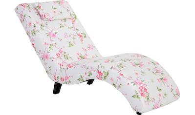 Max Winzer® Relaxliege »Nova«, inklusive Nackenkissen, mit Blumenmuster kaufen