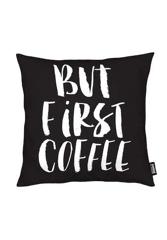 Dekokissen, »But First Coffee«, Juniqe kaufen