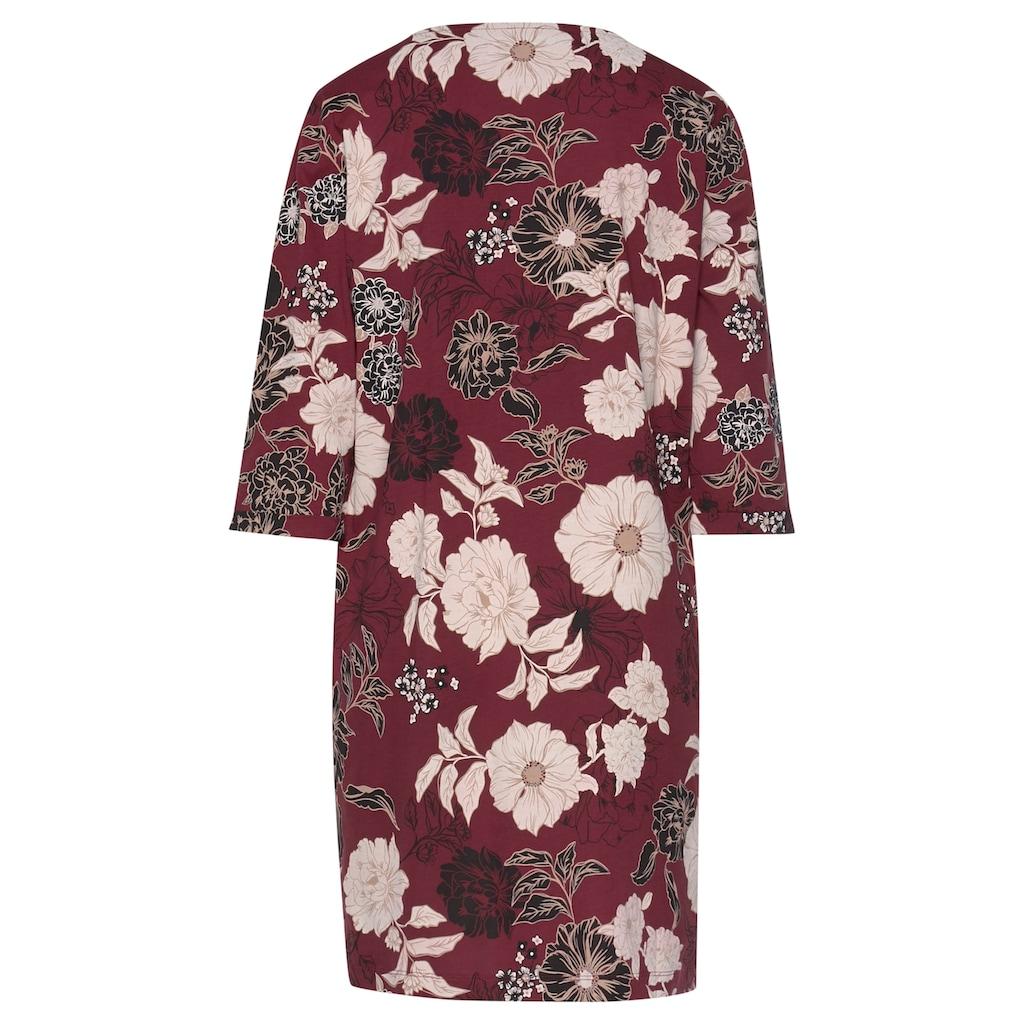 s.Oliver Nachthemd, im Blumen-Dessin mit halbem Ärmel
