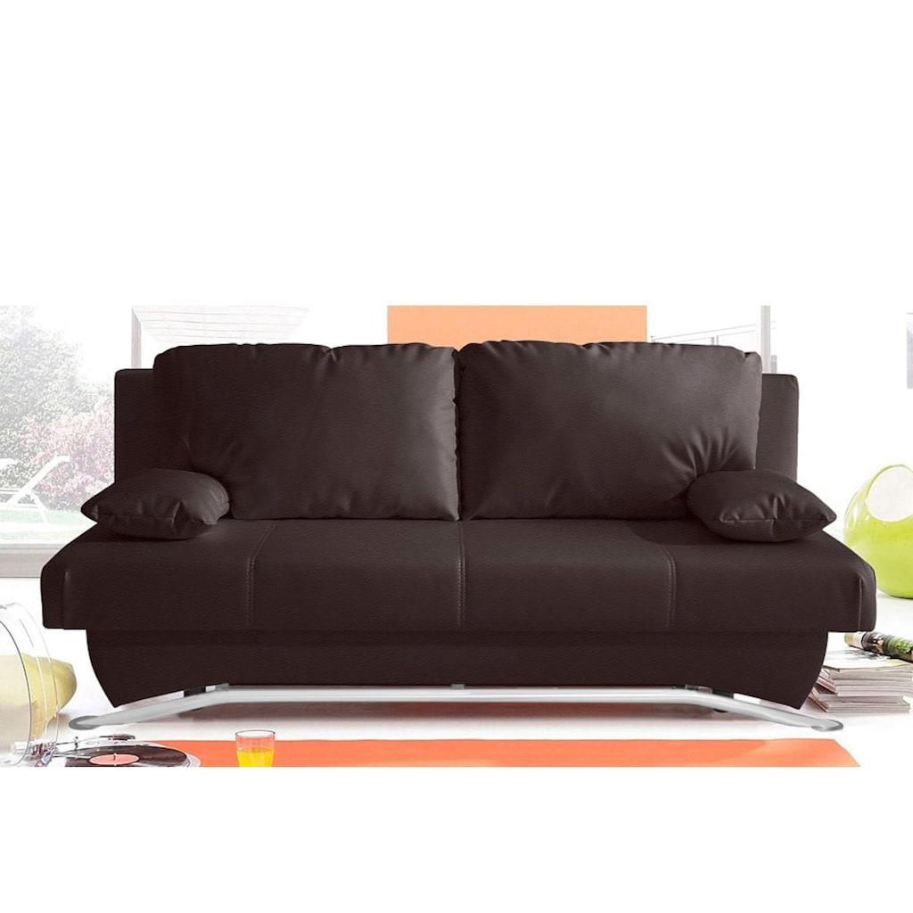 Jockenhöfer Gruppe Schlafsofa, inklusive Bettfunktion und Bettkasten, wahlweise mit Federkern, frei im Raum stellbar