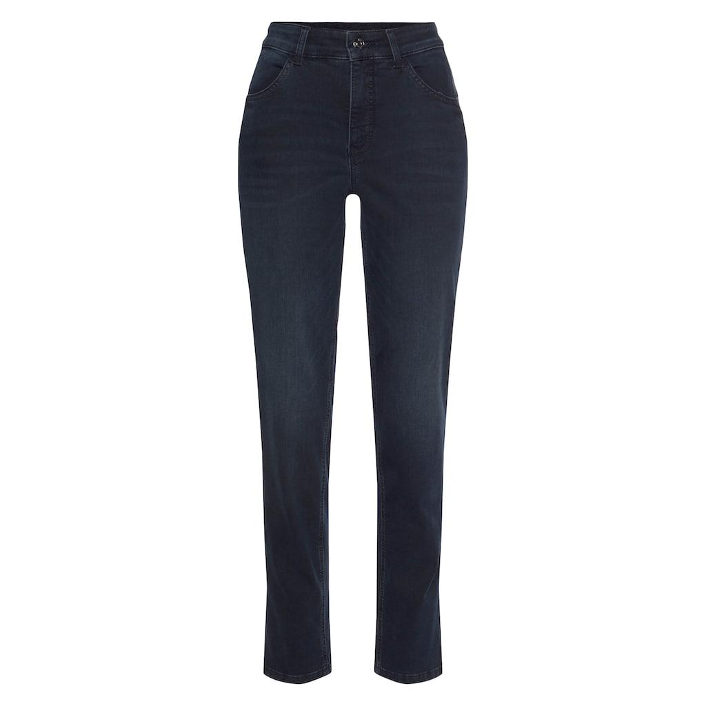 MAC Slim-fit-Jeans »Melanie Pipe«, Schmaler Schnitt mit Keileinsatz vorne