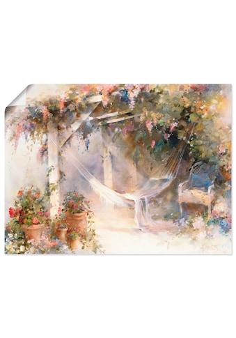 Artland Wandbild »Terrasse«, Garten, (1 St.), in vielen Größen & Produktarten... kaufen