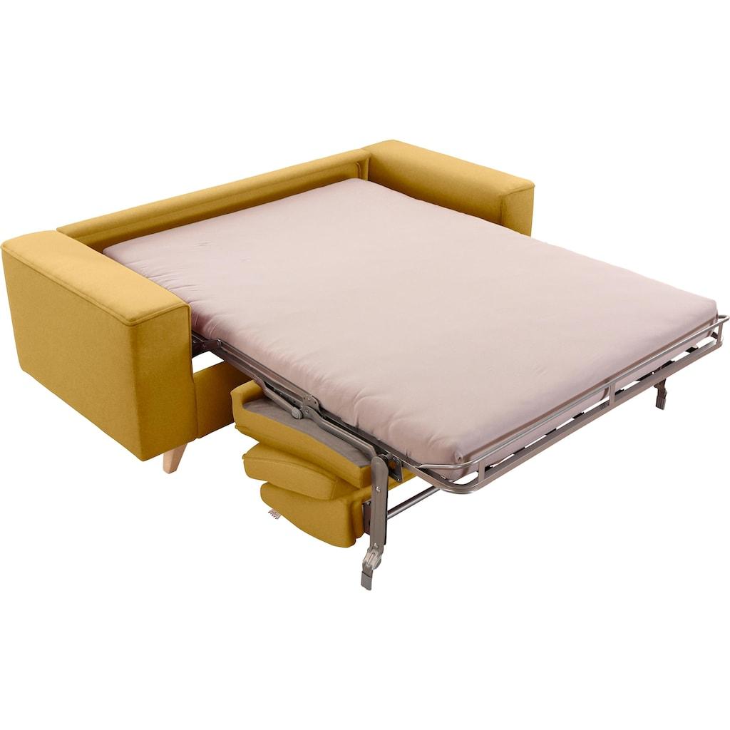 TOM TAILOR Schlafsofa »NORDIC SLEEP«, Füße in Buche, Breite 192 cm, Matratzenbreite 123 cm