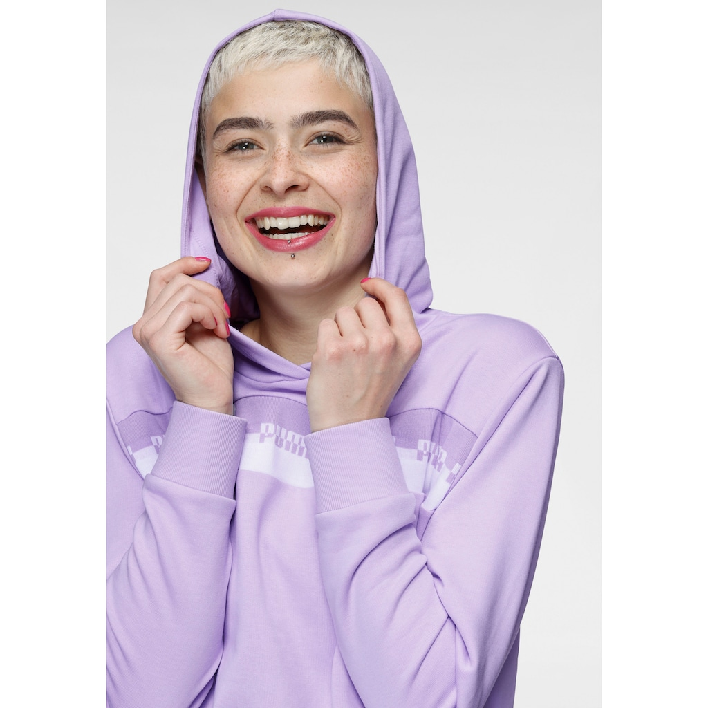 PUMA Kapuzensweatshirt »Amplified Cropped Hoodie TR«