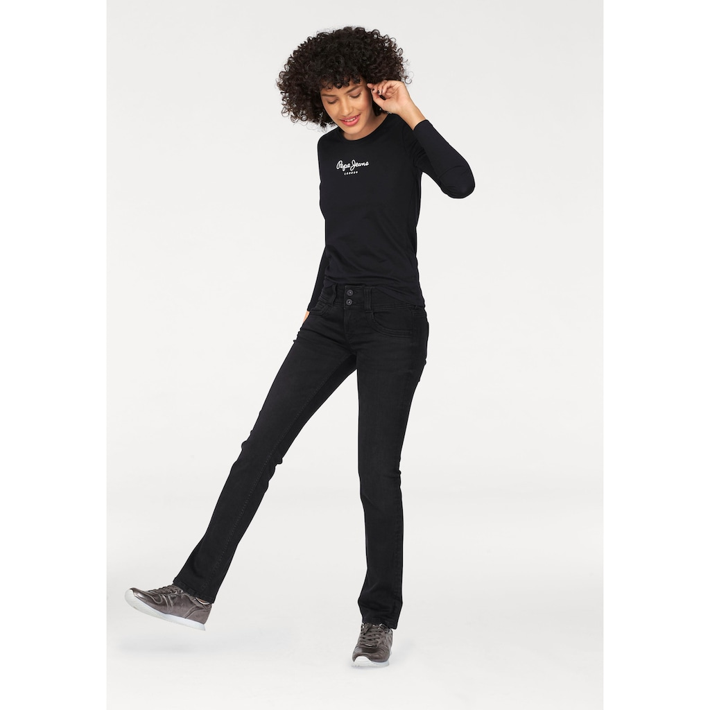 Pepe Jeans Langarmshirt »NEW VIRGINA L/S«, mit Logo-Print
