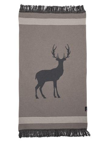 DAVID FUSSENEGGER Teppich, rechteckig, 2 mm Höhe, mit eingewebtem Hirschmotiv - Made... kaufen