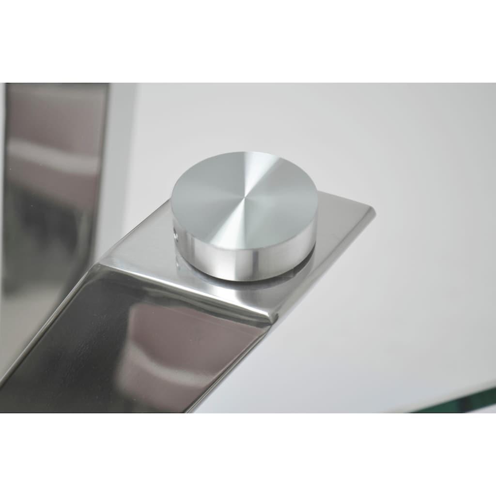 Leonique Konsolentisch »Micado«, mit blattförmigem Fuß aus Chrom, im modernen Design