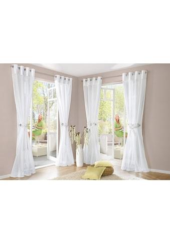 my home Gardine »Willow«, Vorhang, Fertiggardine, inkl. Raffhalter, halbtransparent kaufen