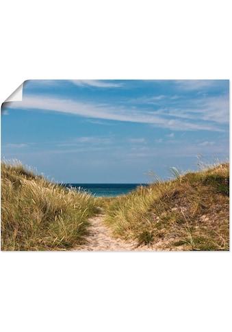 Artland Wandbild »Strandzugang an der Ostsee - Dänemark«, Strand, (1 St.), in vielen... kaufen