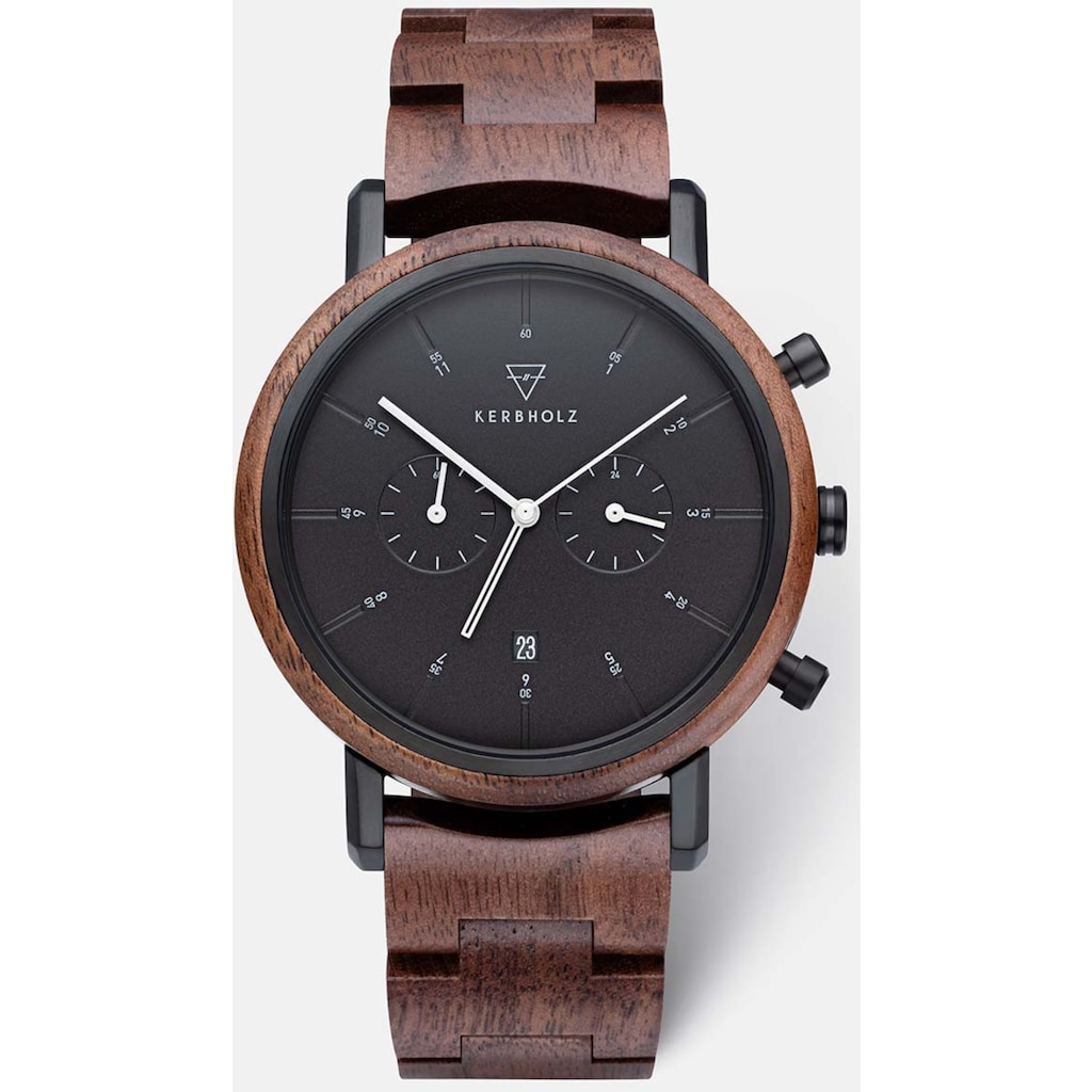 KERBHOLZ Chronograph »Johann Walnut Black«