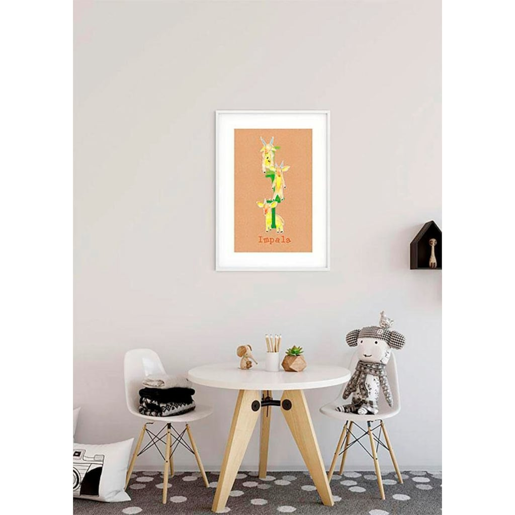 Komar Poster »ABC Animal I«, Buchstaben, Höhe: 70cm