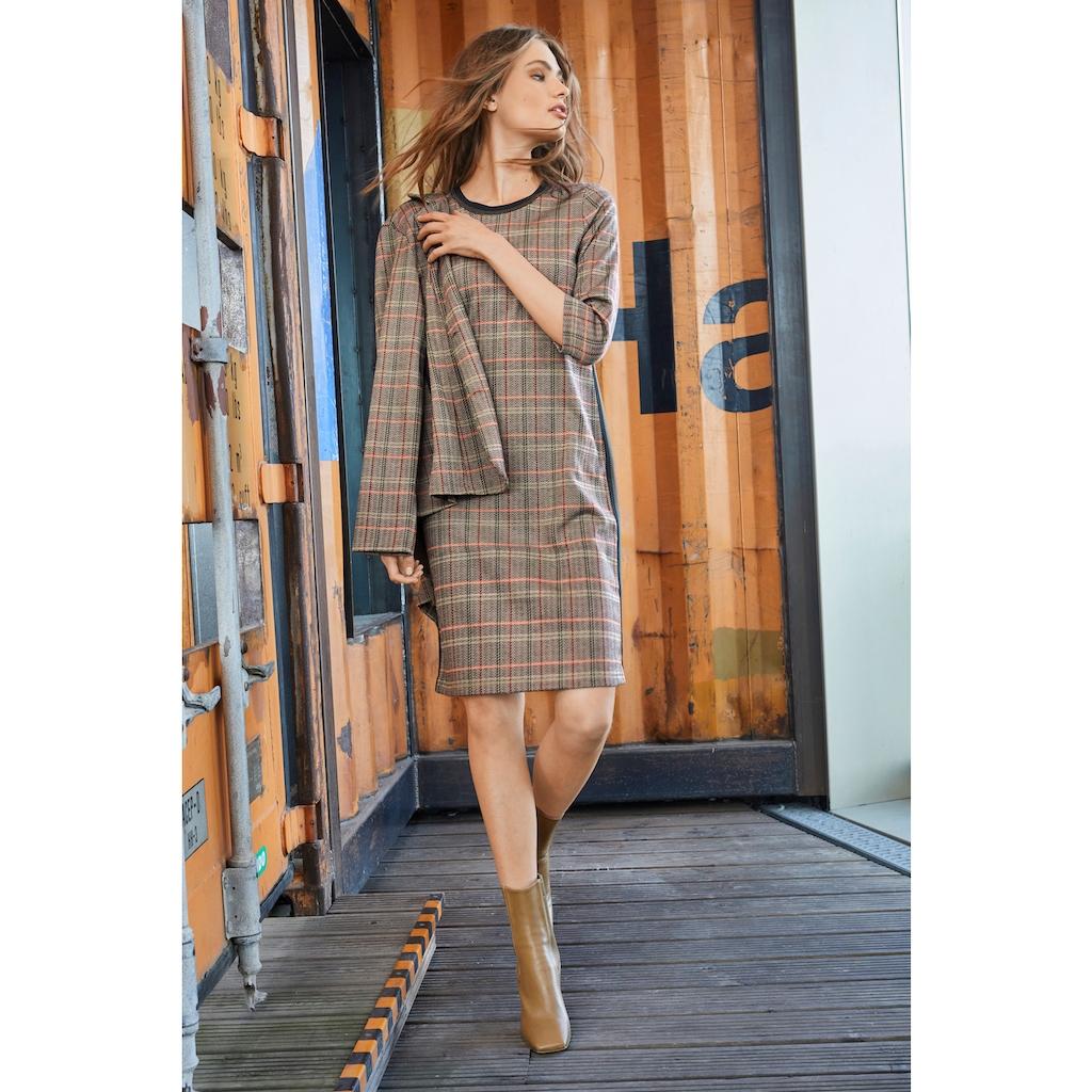 Aniston CASUAL Sweatkleid, mit gestreiften Galonstreifen