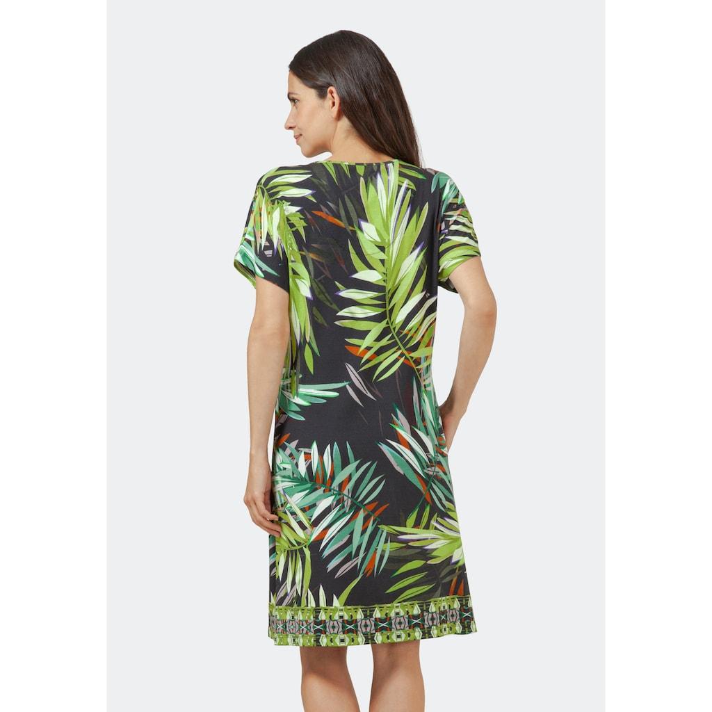 Hajo Strandkleid, mit Blätterdruck