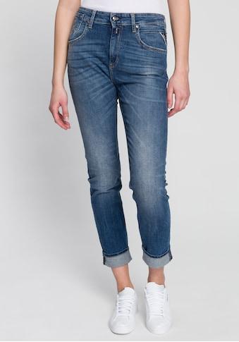 Replay 7/8-Jeans »Marty«, mit Glitzerstein am Bundknopf kaufen