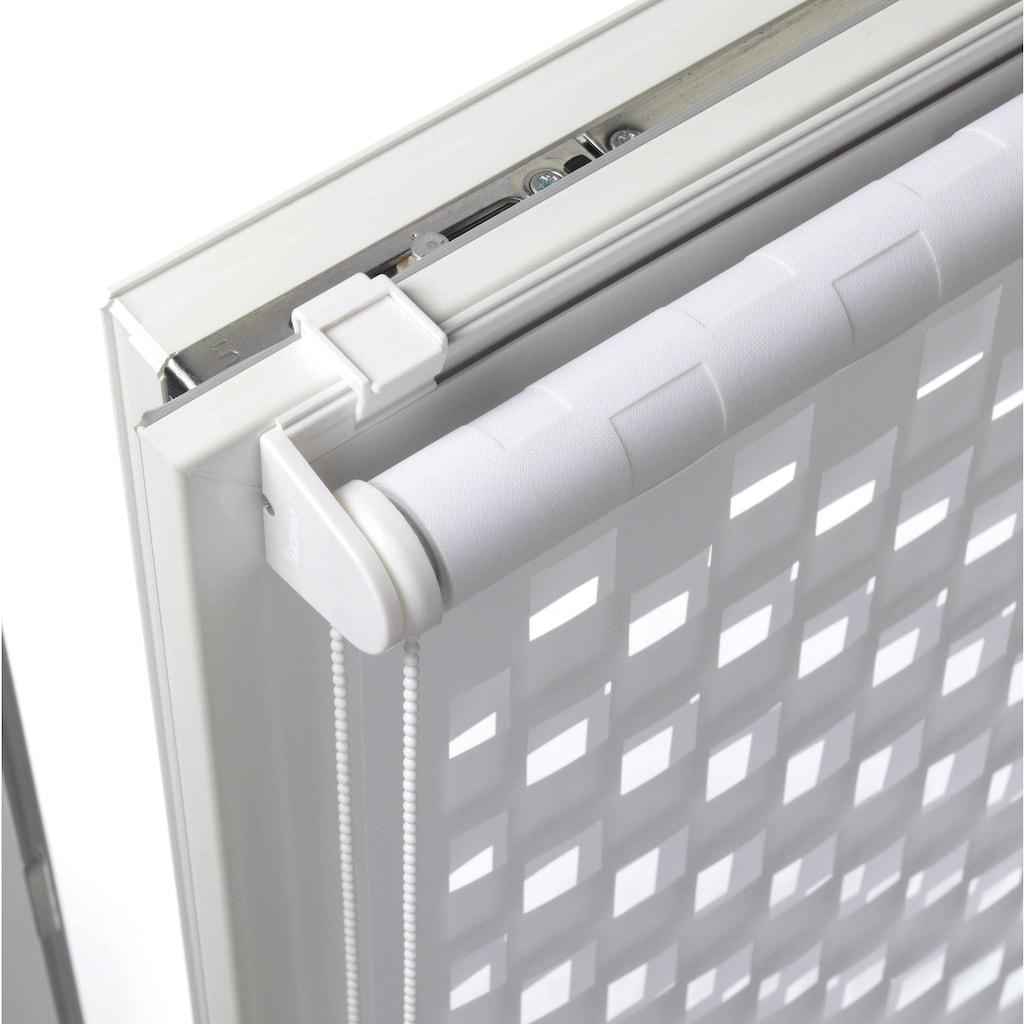 GARDINIA Doppelrollo »EASYFIX Doppelrollo Cut-Out Dreieck«, Lichtschutz, ohne Bohren, im Fixmaß