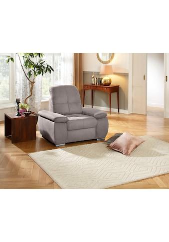 DELAVITA Sessel »Lotus Luxus«, mit besonders hohem Sitzkomfort, belastbar bis ca.140 kg, wahlweise mit oder ohne Kopfteilverstellung kaufen
