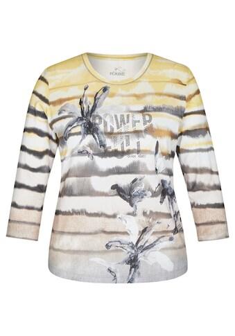Rabe Rundhalsshirt, mit Ringelmuster und floralen Details kaufen