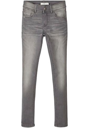 Name It Stretch-Jeans »NKFPOLLY«, Skinnyform mit coolem Chrinkeleffekt kaufen