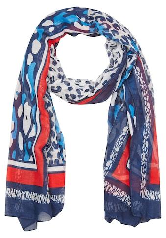 Rabe Schal mit Animal-Print und Kontrastverarbeitung kaufen