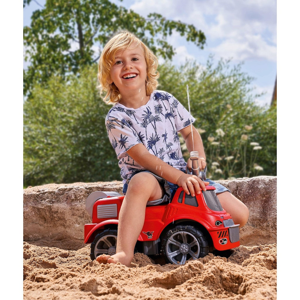 BIG Spielzeug-Feuerwehr »BIG Power Worker Maxi Fire Truck«, Aufsitz-Feuerwehrauto mit Wasserspritzfunktion