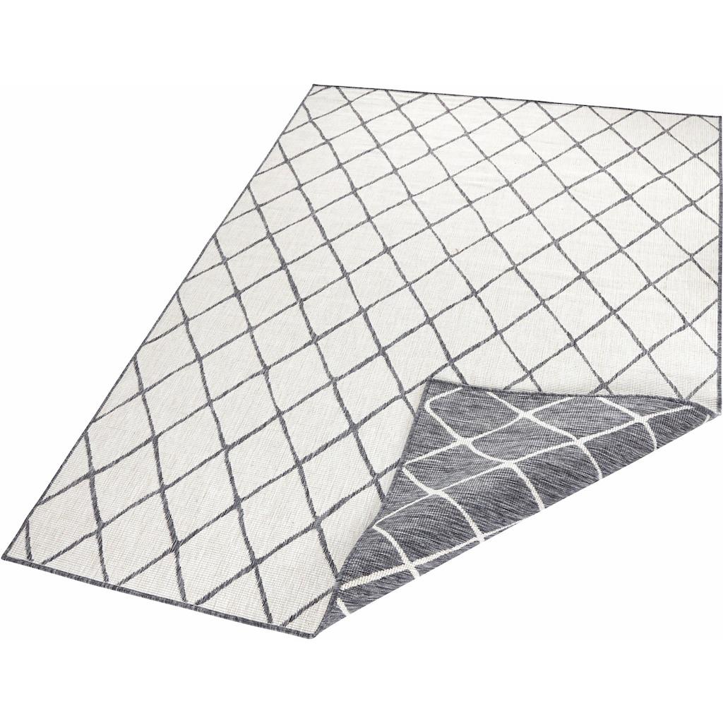 bougari Teppich »Malaga«, rechteckig, 5 mm Höhe, In- und Outdoor geeignet, Wendeteppich, Wohnzimmer