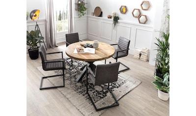 SIT Esstisch »Tops&Tables«, mit rustikaler runder Tischplatte aus Mangoholz kaufen